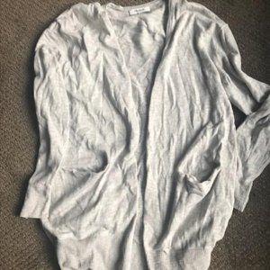 Grey Cotton Madewell open Cardigan